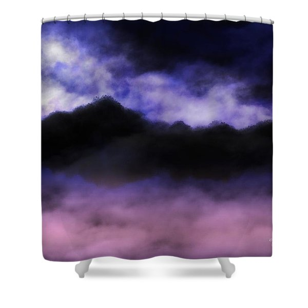 Shower Curtain featuring the painting Nightfall by Mark Taylor