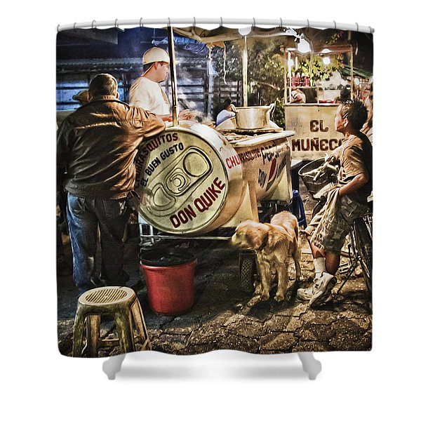 Nightlife In Guatemala Shower Curtain