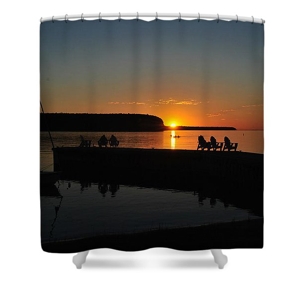 Nightly Entertainment Shower Curtain