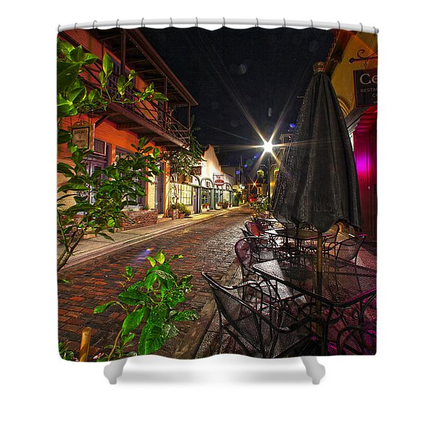 Nights In Oldtown Shower Curtain