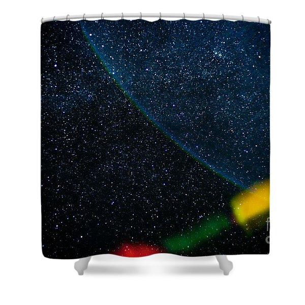 Nightscape Stars In Himalayan Mountain Shower Curtain