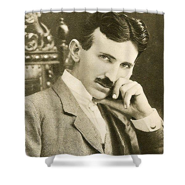 Nikola Tesla, Serbian-american Inventor Shower Curtain