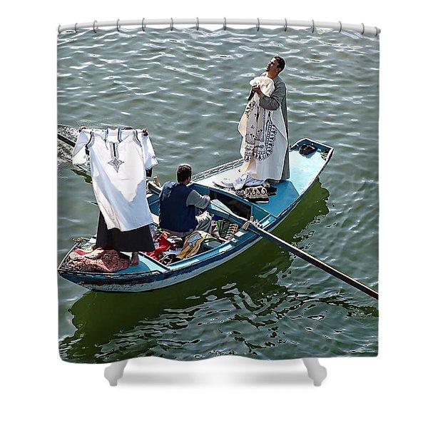 Nile River Merchants Shower Curtain