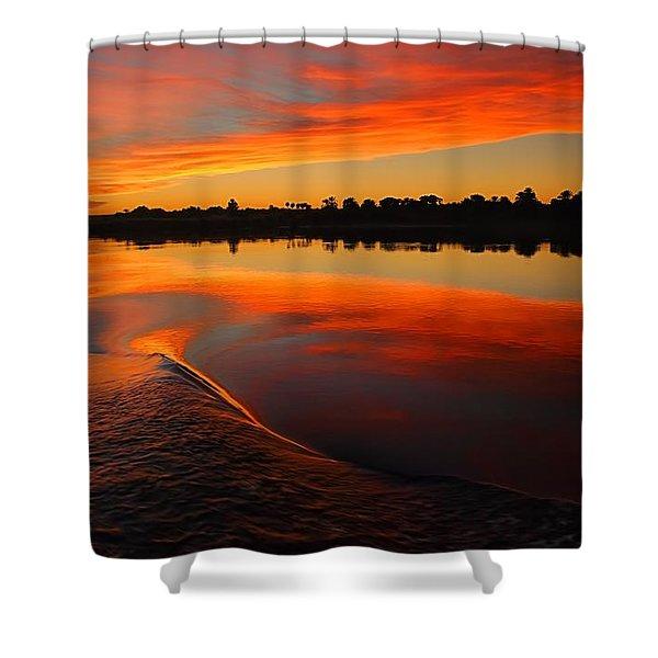 Nile Sunset Shower Curtain