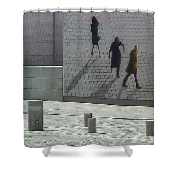 Nine Pedestrians At Place Vendome Shower Curtain