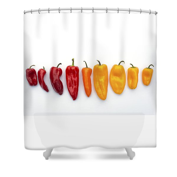 Nine Peppers Shower Curtain