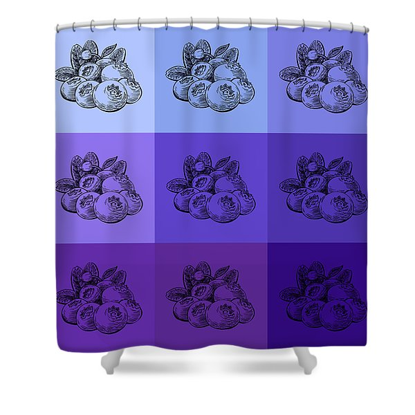 Nine Shades Of Blueberries Shower Curtain
