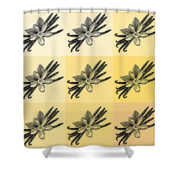 Nine Shades Of Vanilla Shower Curtain