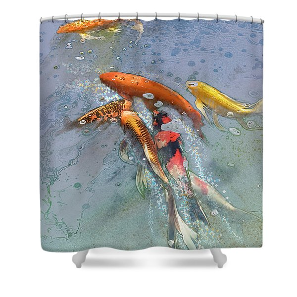 Nishikigoi Shower Curtain