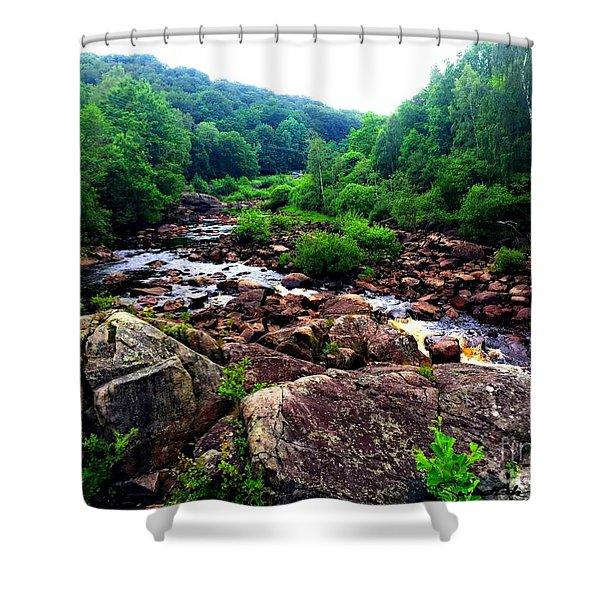 Nissan River Rapids Shower Curtain