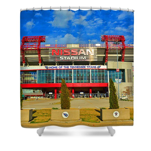 Nissan Stadium Home Of The Tennessee Titans Shower Curtain