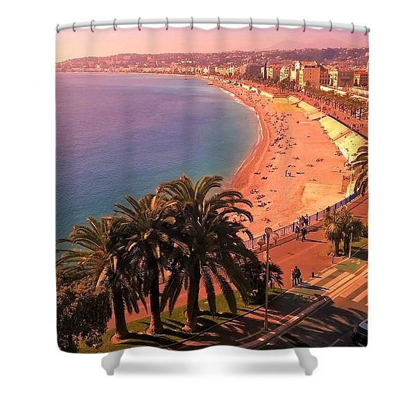 Nizza By The Sea Shower Curtain