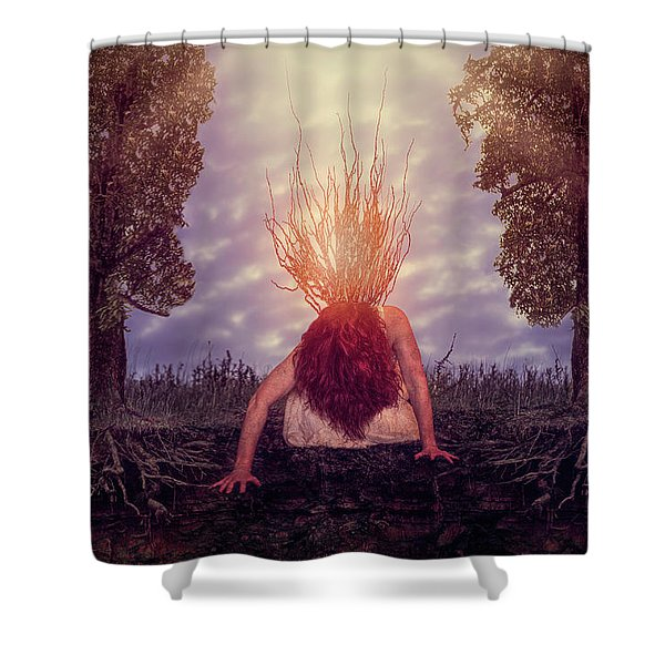 No Earthly Roots Shower Curtain
