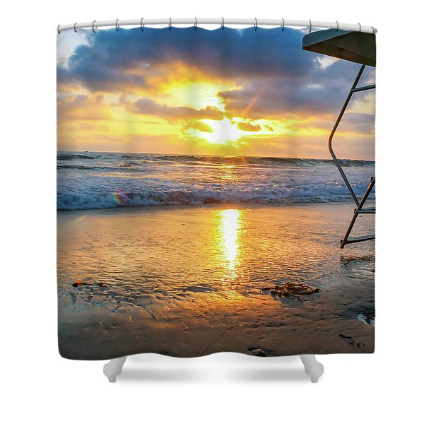 No Lifeguard On Duty Shower Curtain