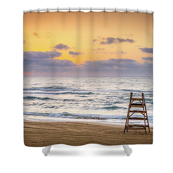 No Lifeguard On Duty. Shower Curtain