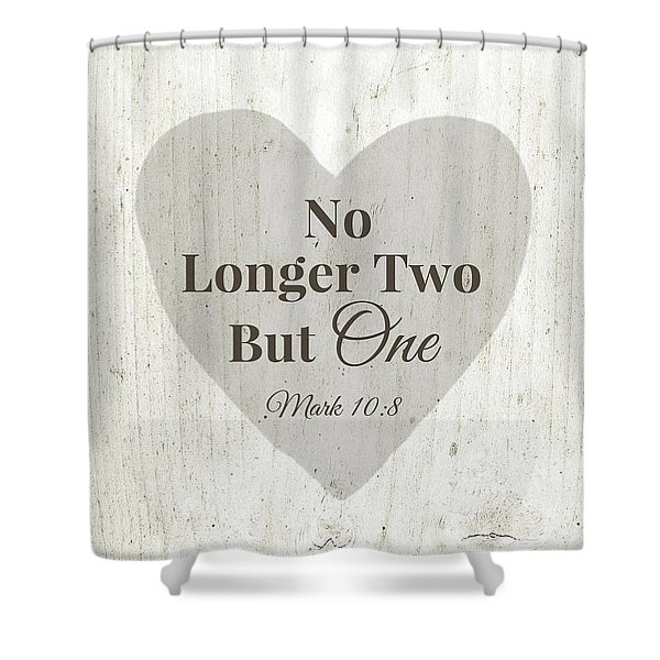 No Longer Two- Art By Linda Woods Shower Curtain