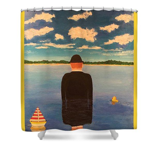 No Man Is An Island T-shirt Shower Curtain