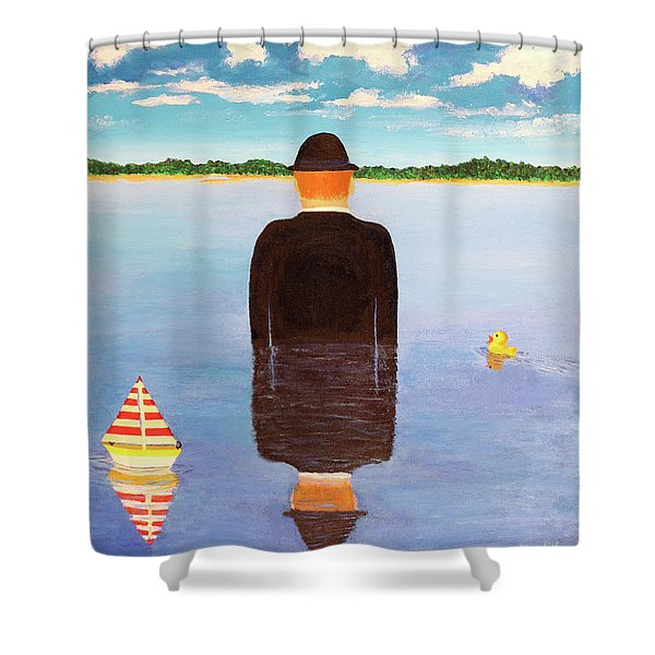 No Man Is An Island Shower Curtain