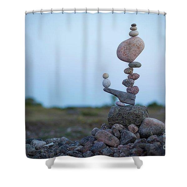 Zen Stack #2 Shower Curtain