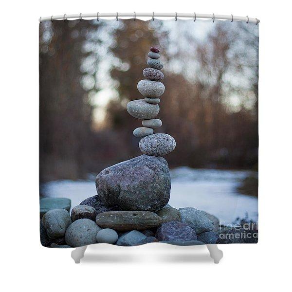 Zen Stack #3 Shower Curtain
