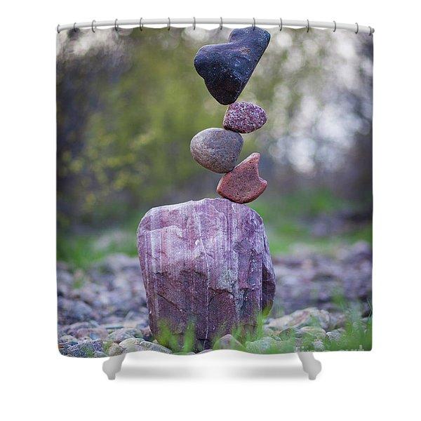Zen Stack #4 Shower Curtain