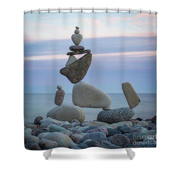Zen Stack #7 Shower Curtain