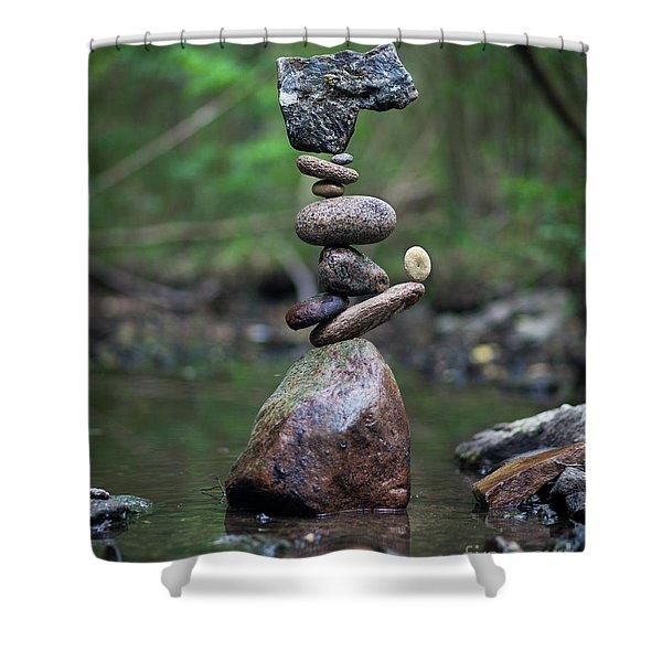 Zen Stack #8 Shower Curtain