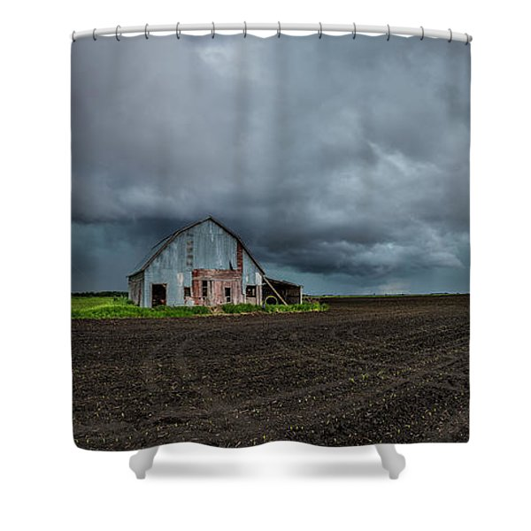 No Shelter Here Shower Curtain