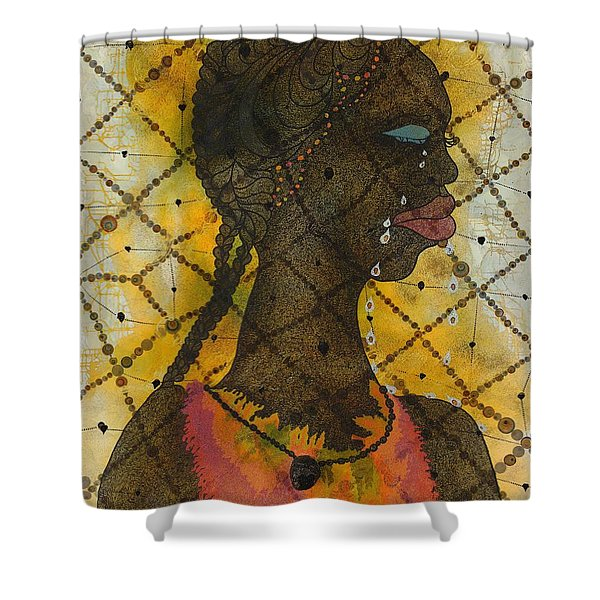 No Woman, No Cry Shower Curtain