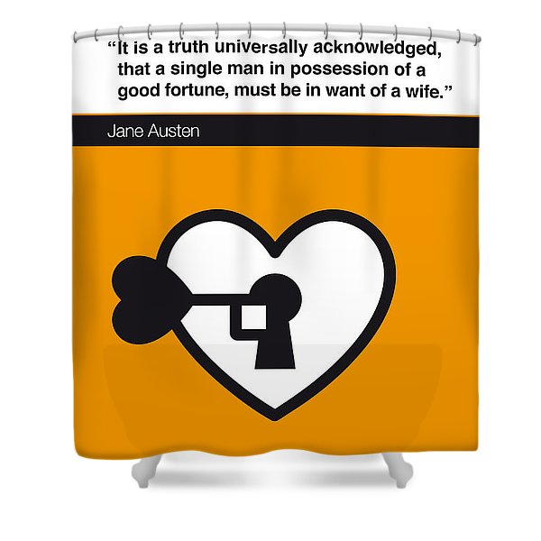 No002 My Pride And Prejudice Book Icon Poster Shower Curtain
