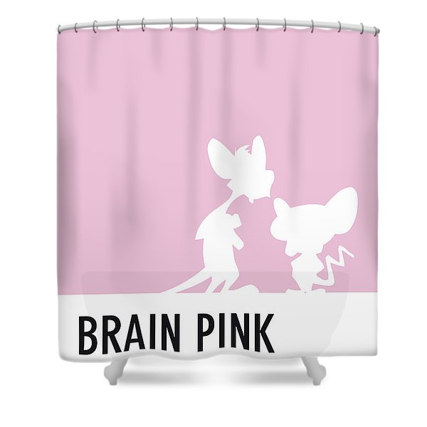 No01 My Minimal Color Code Poster Pinky And The Brain Shower Curtain