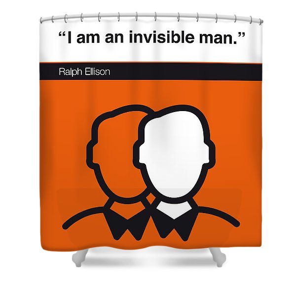 No010-my-invisible Man-book-icon-poster Shower Curtain