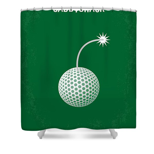 No013 My Caddy Shack Minimal Movie Poster Shower Curtain