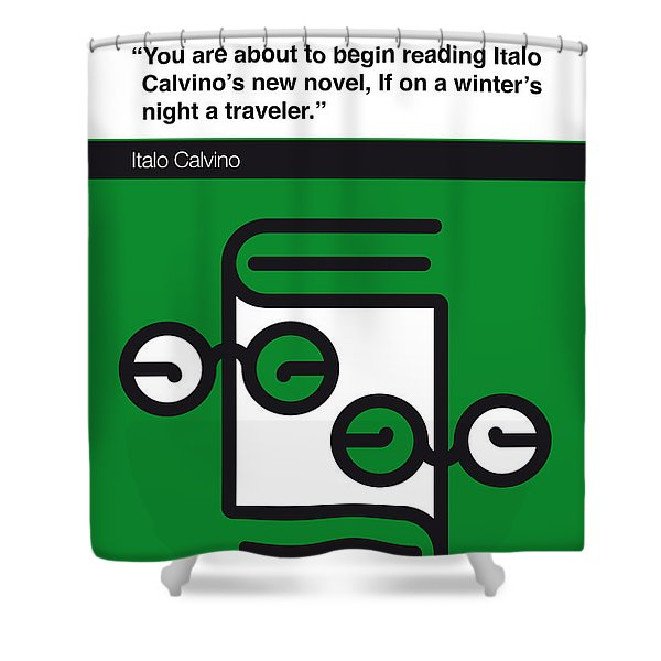No014-my-if On A Winter's Night A Traveler-book-icon-poster Shower Curtain