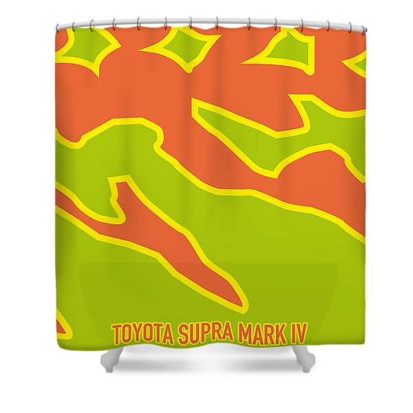 No017 My Fast And Furious Minimal Movie Car Poster Shower Curtain