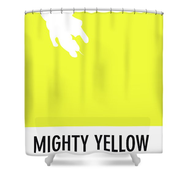 No02 My Minimal Color Code Poster Mighty Mouse Shower Curtain