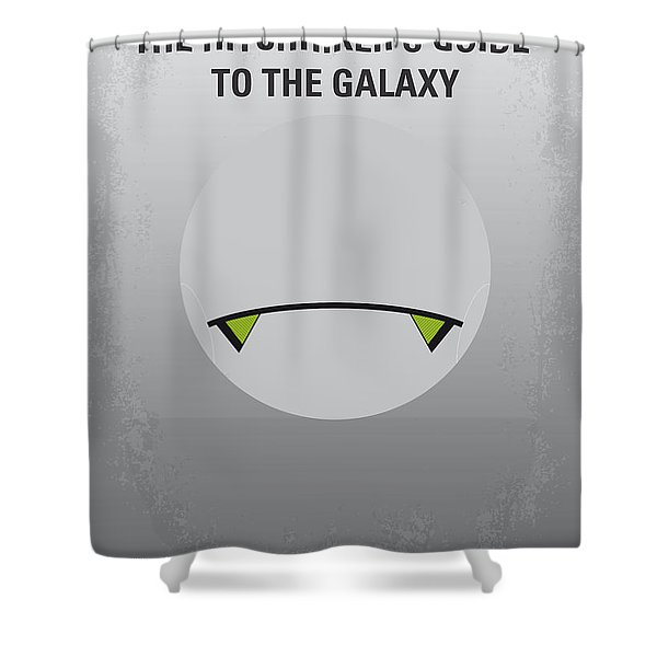 No035 My Hitchhiker Guide Minimal Movie Poster Shower Curtain
