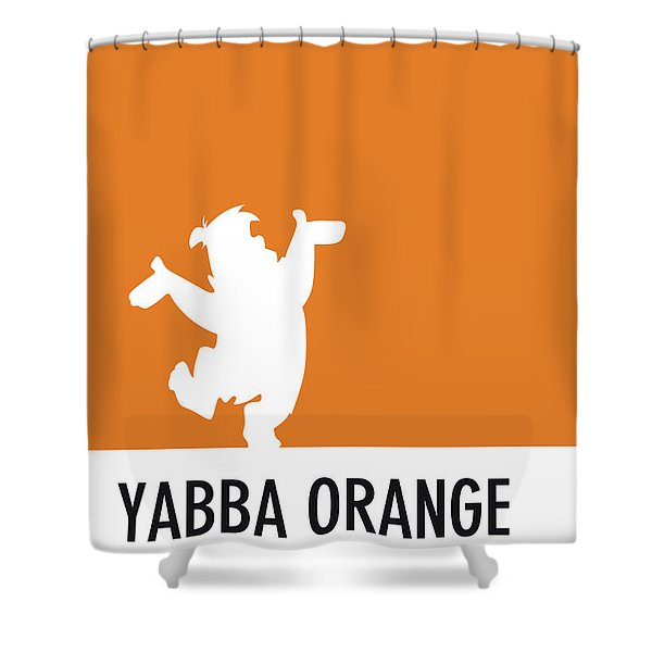 No04 My Minimal Color Code Poster Fred Flintstone Shower Curtain