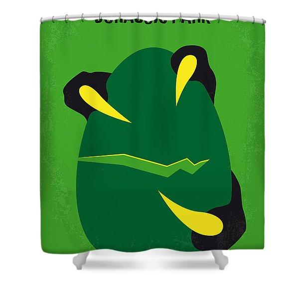 No047 My Jurassic Park Minimal Movie Poster Shower Curtain