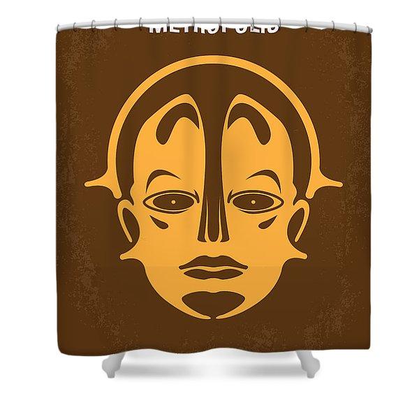 No052 My Metropolis Minimal Movie Poster Shower Curtain