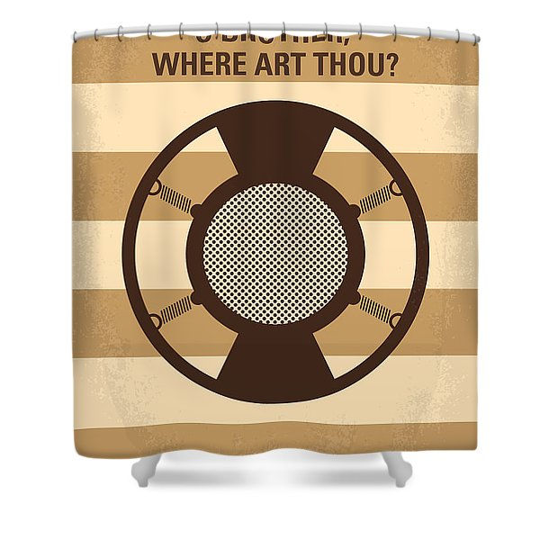 No055 My O Brother Where Art Thou Minimal Movie Poster Shower Curtain