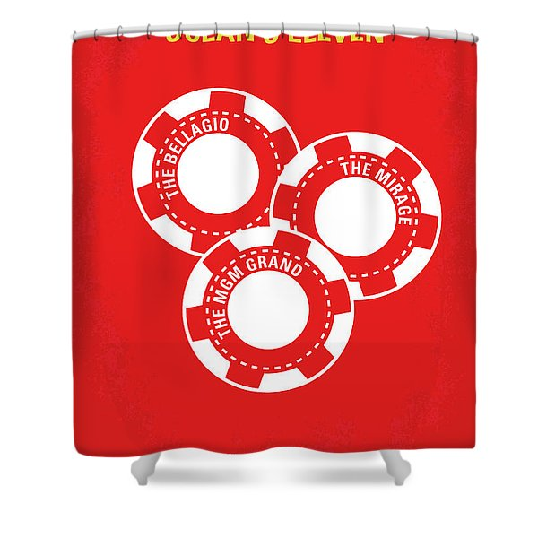 No056 My Oceans 11 Minimal Movie Poster Shower Curtain
