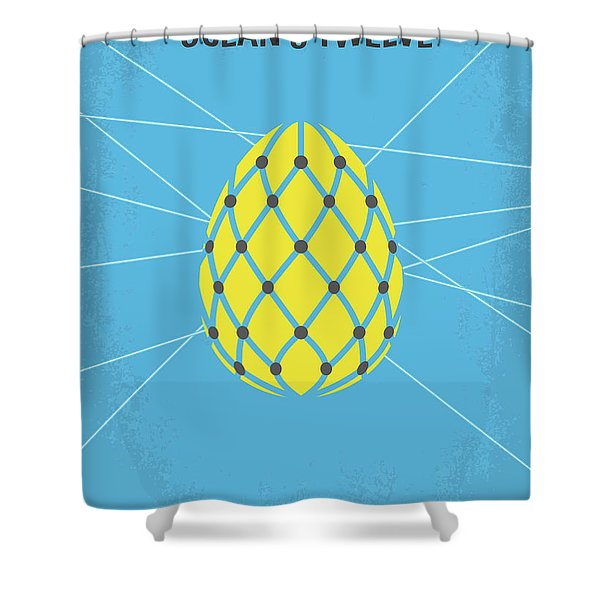 No057 My Oceans 12 Minimal Movie Poster Shower Curtain