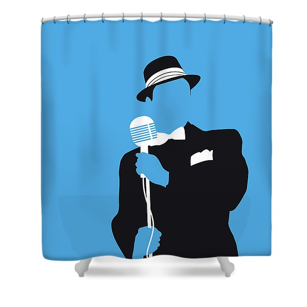 No059 My Sinatra Minimal Music Poster Shower Curtain