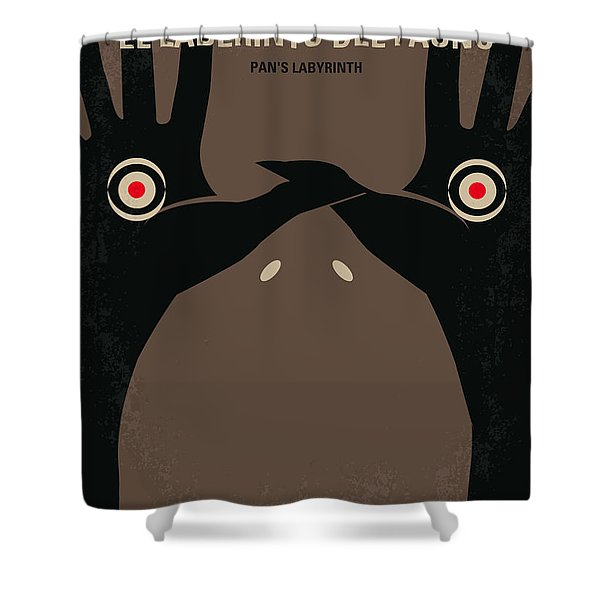 No061 My Pans Labyrinth Minimal Movie Poster Shower Curtain