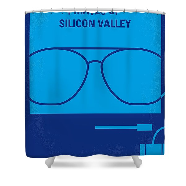 No064 My Pirates Of Silicon Valley Minimal Movie Poster Shower Curtain