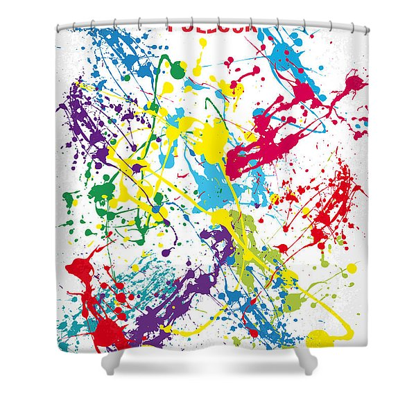 No065 My Polock Minimal Movie Poster Shower Curtain