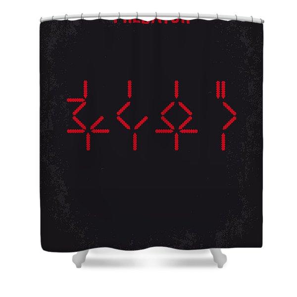 No066 My Predator Minimal Movie Poster Shower Curtain