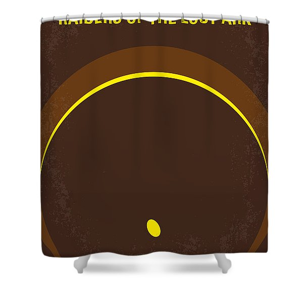No068 My Raiders Of The Lost Ark Minimal Movie Poster Shower Curtain