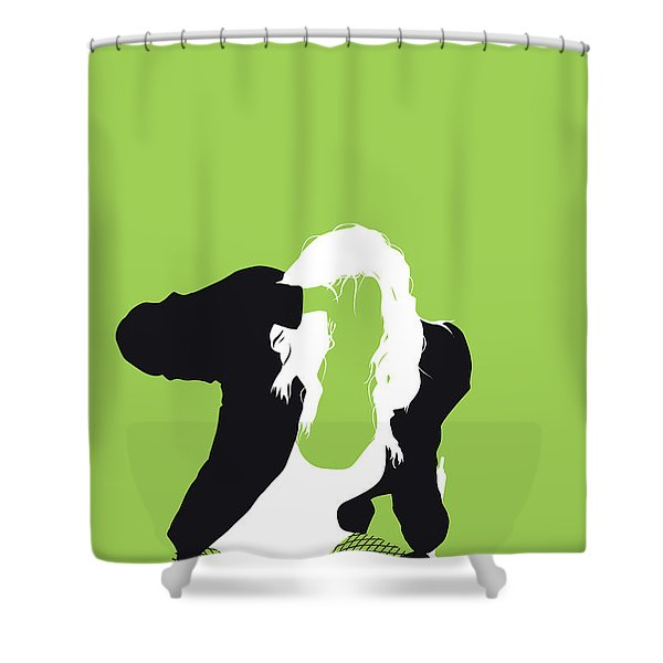 No086 My The Black Eyed Peas Minimal Music Poster Shower Curtain